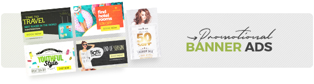 Promotional banner ads templates